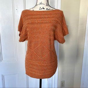 Sparkly Short-Sleeved Autumn Sweater